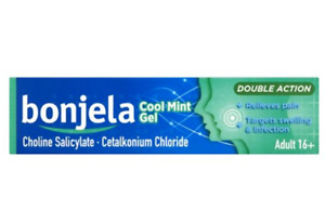 Bonjela - DOUBLE ACTION COOL MINT GEL ADULT 16+ Sugar FREE 15g Relieves Pain