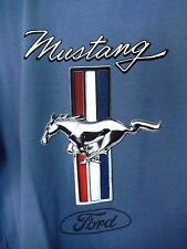 Newport Blue T Shirt Mustang Hood Ornament--size L--Soft & Sturdy!  NWT