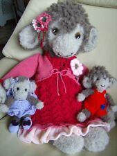 Mindy & Mo Singe + babies + 2 x tenues/Accessoires Jouet Doux Knitting Pattern