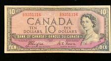 1954 Canadian $10 Dollar Bill - Coyne/Towers - BC-32a - D/D - Devil's (BB#1175)
