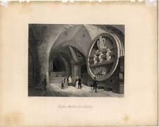 Heidelberg - das große Fass - Stahlstich 1850