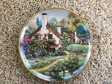 Cozy Glen Cottage Collector Plate Violet Schwenig Franklin Mint Certificate