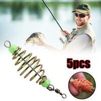 20//25//30G INLINE METHOD FEEDERS FLAT SWIM HOT CARP FISHING TACKLE BAR N W9H0