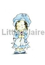 LITTLE CLAIRE DESIGNS A6 Clear Stamps CUTE PATOOTIES Sweet Little Mary + FLOWER