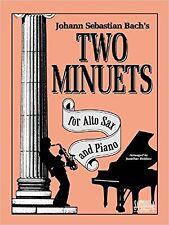 Two Minuets Alto Saxophone Piano Bach Sheet Music Baroque Book S168