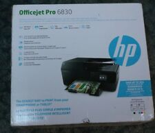 New HP Officejet Pro 6830 Wireless All in One Printer Scanner Copier Fax Machine