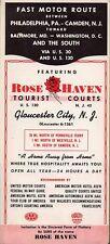 Vintage 1949 New Jersey Motel Brochure- Rose Haven Tourist Courts, Gloucester NJ