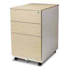 Aurora Fc 103lw Modern Soho Design 3drawer Metal Mobile File Cabinet Light Wenge