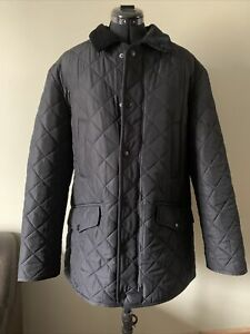 Barbour BARDON Quilted Fleece lined Jacket Size M Medium BLACK
