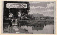 Postcard Salt Box Tea House Pioneer Valley Greenfield MA
