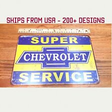 CHEVY Tin Sign Chevrolet Metal Sign Chevy Garage Sign Chevy Service Chevy Gifts