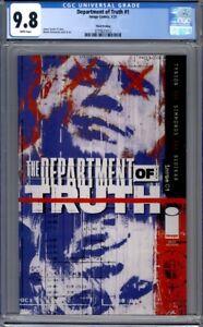 Department of Truth #1  Image Comics JFK Cover  3rd Print   CGC 9.8