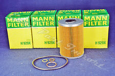 Mercedes-Benz M116 M117 Engine Oil Filter Mann Filter 0001800609 (Set of 4)