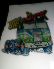 "Vintage "" BIG MACK TRUCK ""  Iron-On Transfer  COLOR  GLITTER BUY ONE GET ONE"
