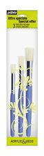 Pébéo 951190 1 Pack of 3 Paintbrushes Stencil