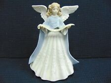 "Lladro 1989 Angel Singer Lavender Tree Topper No Chips Or Cracks 7 1/4"" Tall"