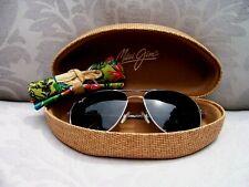 *New* MAUI JIM CLIFF HOUSE Silver/Neutral Grey Polarized Sunglasses ~~ GS247-17