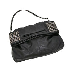 Women's Korean Faux Leather Rivet Chain Shoulder Handbag Cross body Bag N6L8