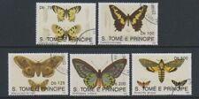 St Thomas & Prince Islands - 1992 Butterflies set - F/U (a)