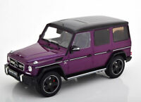 MERCEDES BENZ AMG G63 PURPLE G KLASSE 1 OF 600 MADE 1:18 SCALE LIMITED EDITION