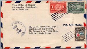GP GOLDPATH: HONDURAS COVER 1946 AIR MAIL _CV712_P15