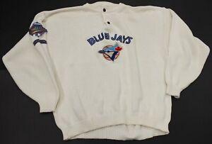Men's 1992 Vintage Toronto Blue Jays World Champions Cotton Knit Sweater Large L