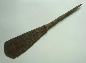 Rare Roman Javelin arrowhead rope cutting blade tanged ballista bolt head 3 C AD