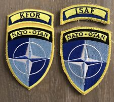 Belgium KFOR And ISAF Patches