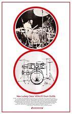 John Bonham POSTER Ludwig Vistalite Drum Promo Ad  LED ZEPPELIN  Vista Lite Set