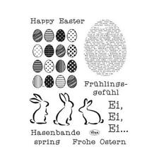 Viva Decor A5 Clear Silicone Stamps Set - Happy Easter #144