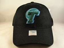 f9dac84dddd NCAA Tulane Green Wave Vintage Adjustable Strap Hat Cap American Needle  Black