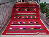 Vintage Moroccan Handmade Azilal Wool Berber Rug Beni ourain Tribal Carpet