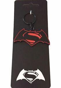 Batman Vs Superman Metal Keychain Keyring Licensed DC NWT