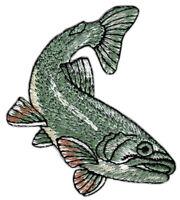 an76 Fisch Forelle Aufnäher Bügelbild Patch Applikation Tier Angeln 6 x 7 cm