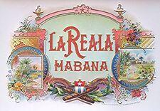 Vintage La Reala Cigar Label --- Beautiful Embossed Cigar Label