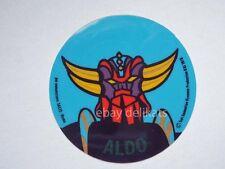 ADESIVO Sticker card vintage UFO ROBOT GOLDRAKE 1978 nome ALDO