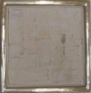 Zangs, Herbert, Verweissung, Dispersion auf Pappe, Blattgoldrahmen, handsigniert