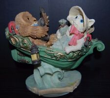 The Owl and the Pussycat went to sea Figure from Poem RARE HTF Nursery Decor