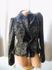 INC Nostalgia Leopard Faux Fur Ruffled Zipper Jacket MEDIUM NEW