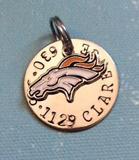 Denver Broncos  NFL Custom Dog /Cat Pet ID Tag, Your Pets Name And #