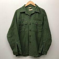 Vintage OG107 Fatigue Shirt, 16 1/2 x 34 US Army 1960's-1970's J-53