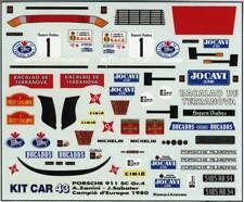 PORSCHE 911SC Gr.4 N°1 CHAMPION RALLY EUROPE 1980 ZANINI SABATER  DECALS 1/43