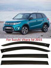 For Suzuki Vitara 5d 2015 Window Black Visor Rain Sun Guard Deflectors