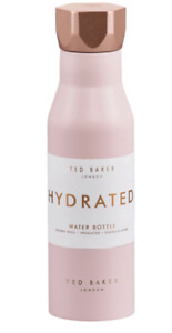 TED BAKER: Pink Insulated WaterBottle with Hexagonal Lid 425ml BRAND NEW