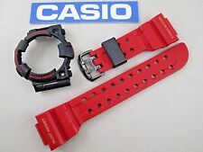 Genuine Casio G-Shock Frogman GWF-T1030A black & red watch band & bezel set