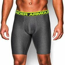 "NEW MENS UNDER ARMOUR ORIGINAL SERIES 9"" BOXERJOCK BOXER BRIEFS - MEDIUM - GREY"