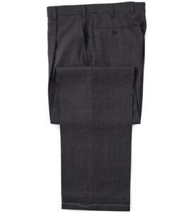 NWT $950 BRIONI 'Cannes' Gray Woven Patterned Wool Dress Pants 31 W (Eu 46)