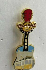 Hard Rock Cafe Pin Lisbon Tourist Tram Guitar Transportation Series