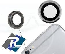 Supporto Fotocamera Posteriore Silver con Lente per iPhone 6 Anello Vetrino