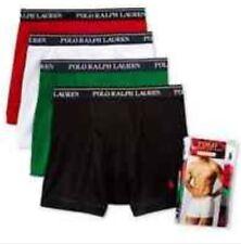 Polo Ralph Lauren Boxer Briefs Mens Underwear 4 Pack White Green Res Bl S M L XL